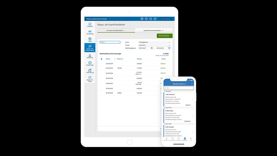 Visma eEkonomi bokföring online i mobilen och på läsplattan