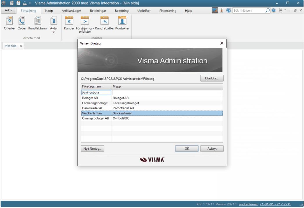 Visma Administration 2000 version 2021.1